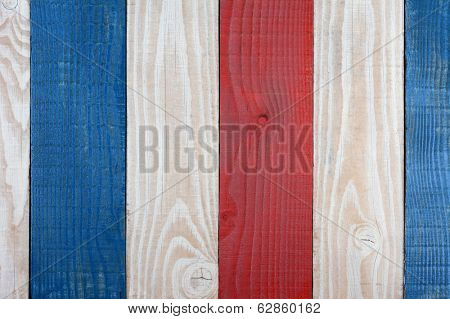 Red White and Blue Boards Background. Patriotic Background for 4th of July or Memorial Day projects.