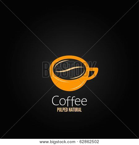 coffee cup bean concept design background