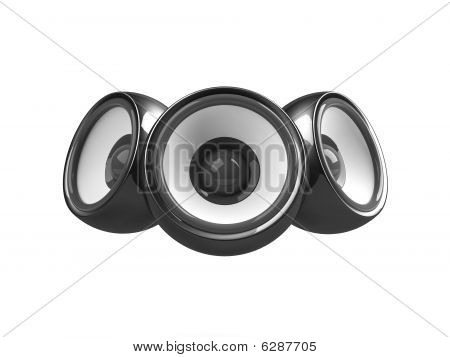 Black Audio System Isolated