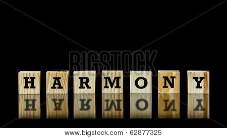 The Word - Harmony - On Wooden Cubes