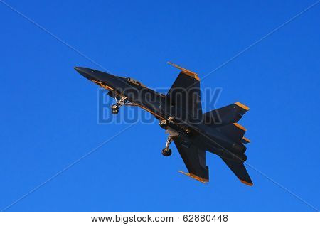 Image of a Blue Angel F-18 Taking Off