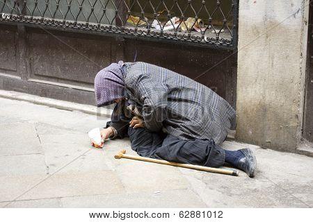 Elder Woman Homeless