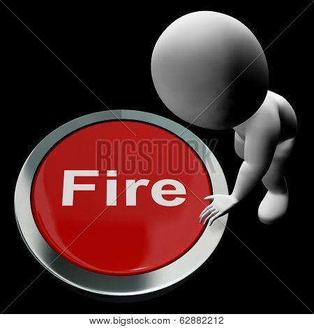 Fire Button Means Emergency Evacuation And 111