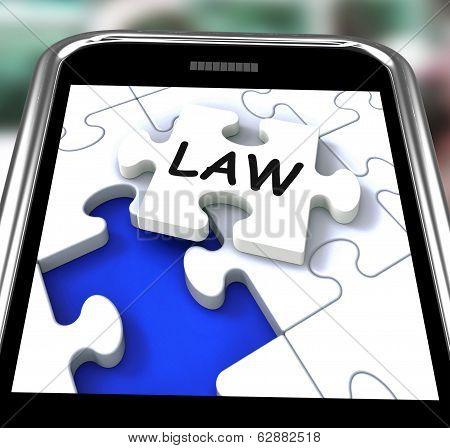 Law Smartphone Shows Legal Information And Legislation On Internet