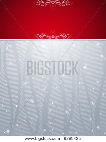 silver christmas background, vector
