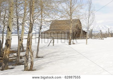 Beautiful Image Of The Famous Moulton Barn On Mormon Row,Wyoming