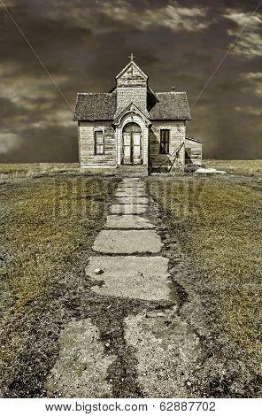 Beautiful HDR Image of an abandoned Mormon Church