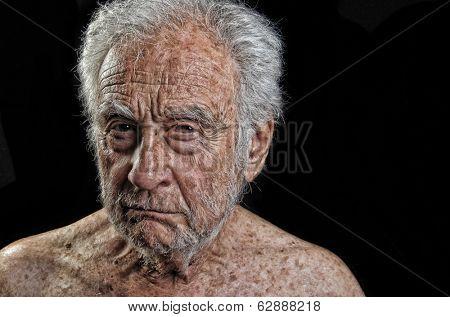 Striking Image of a senior man Very Upset