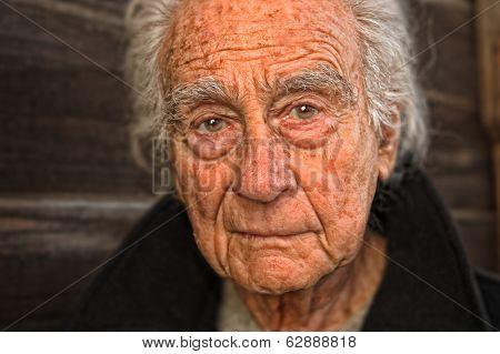 Very nice emotional portrait of a elderly man