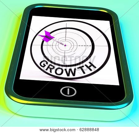 Growth Smartphone Shows Expansion  And Advancement Through Internet
