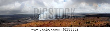 Dramatic Panorama Image of the Kilauea Volcano in Hawaii