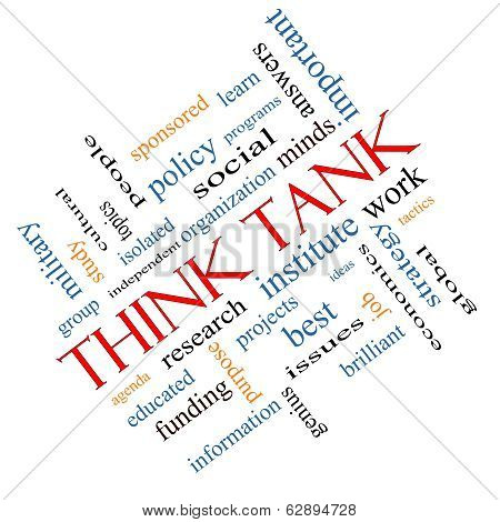 Think Tank Word Cloud Concept Angled