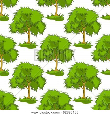 pattern of leafy green trees