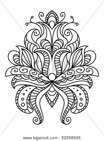 Ornate paisley floral element