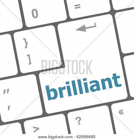 Brilliant Word On Keyboard Key