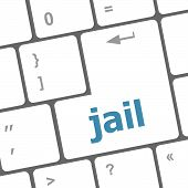 Jail Word On Computer Keyboard Pc Key