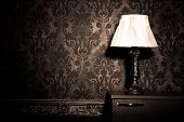 picture of victorian houses  - Vintage room interior toned image studio shooting - JPG