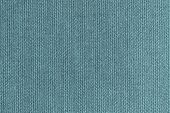 knitted woolen fabric of turquoise color