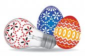 ������, ������: Easter Eggs and Easter Bulb