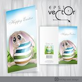 Easter Bunny With Colorful Egg.