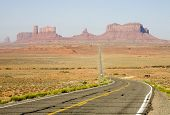 Road, Monument Valley poster