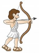 stock photo of sagittarius  - vector illustration of a zodiac sign  - JPG