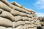 picture of sandbag  - sandbags world war 1 trench of death Flanders Belgium