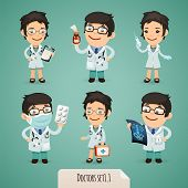 picture of roentgen  - Doctors Cartoon Characters Set1 - JPG