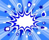 image of starburst  - Burst comic background - JPG