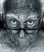 Amazing Close up Hyper focus Image of an Elderly man poster