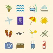 Set of holidays icons, contrast color