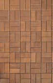 picture of grout  - Reddish brown terracotta paver hardscape driveway - JPG
