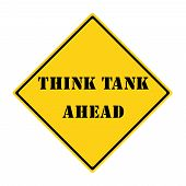 Think Tank Ahead Sign