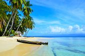stock photo of lagos  - Tropical Islands in Panama where living the kuna yala people - JPG
