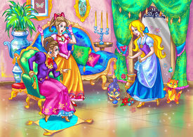 stock photo of stepmother  - illustration for classical european fairy tale such as cinderella - JPG