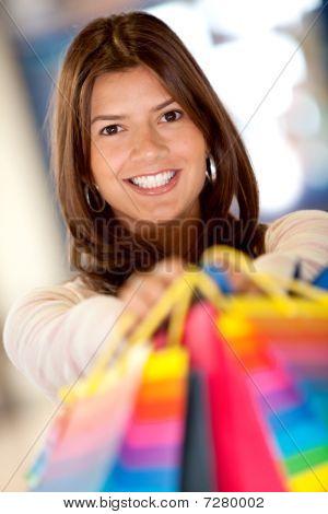 Beautiful Shopping Woman