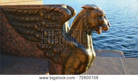 Sculpture Of The Petersburg Griffin