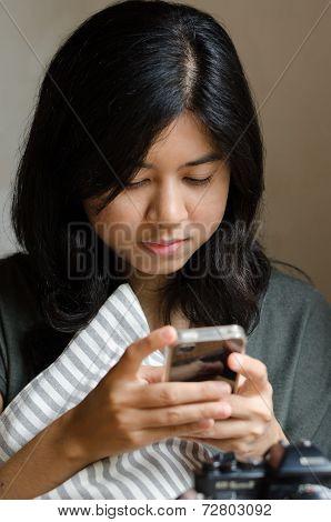 Pretty Woman Using Mobile Phone