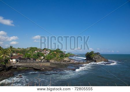 Tanah Lot - The Temple In The Sea. Bali, Indonesia