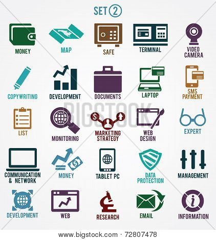 Set Of Internet Services Icons
