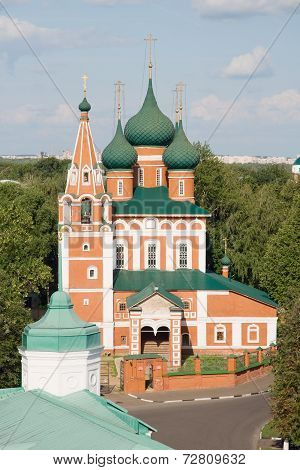 The Church Of The Archangel Michael In Yaroslavl, Russia. View From A Height
