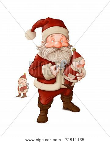 Santa Claus And Mechanical Doll