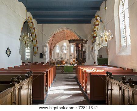 Interior Of The Church Of Leermens.
