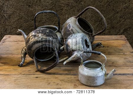 Still Life With Old Classic Kettle