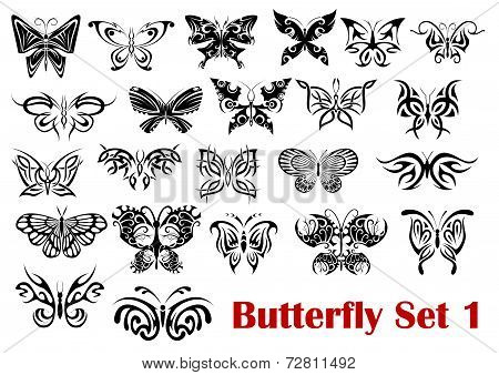 Butterfly silhouette icons