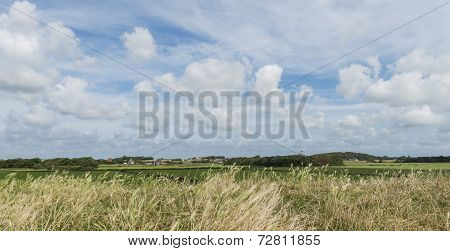 Landscape Texel With Clouds