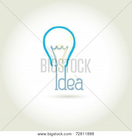 Bulb light idea vector illustration