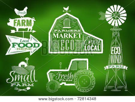 Farm vintage green