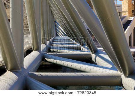 Inside close up of bridge