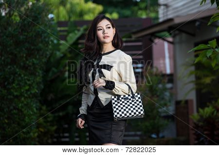 Asian Woman. Smiling  Business Woman.